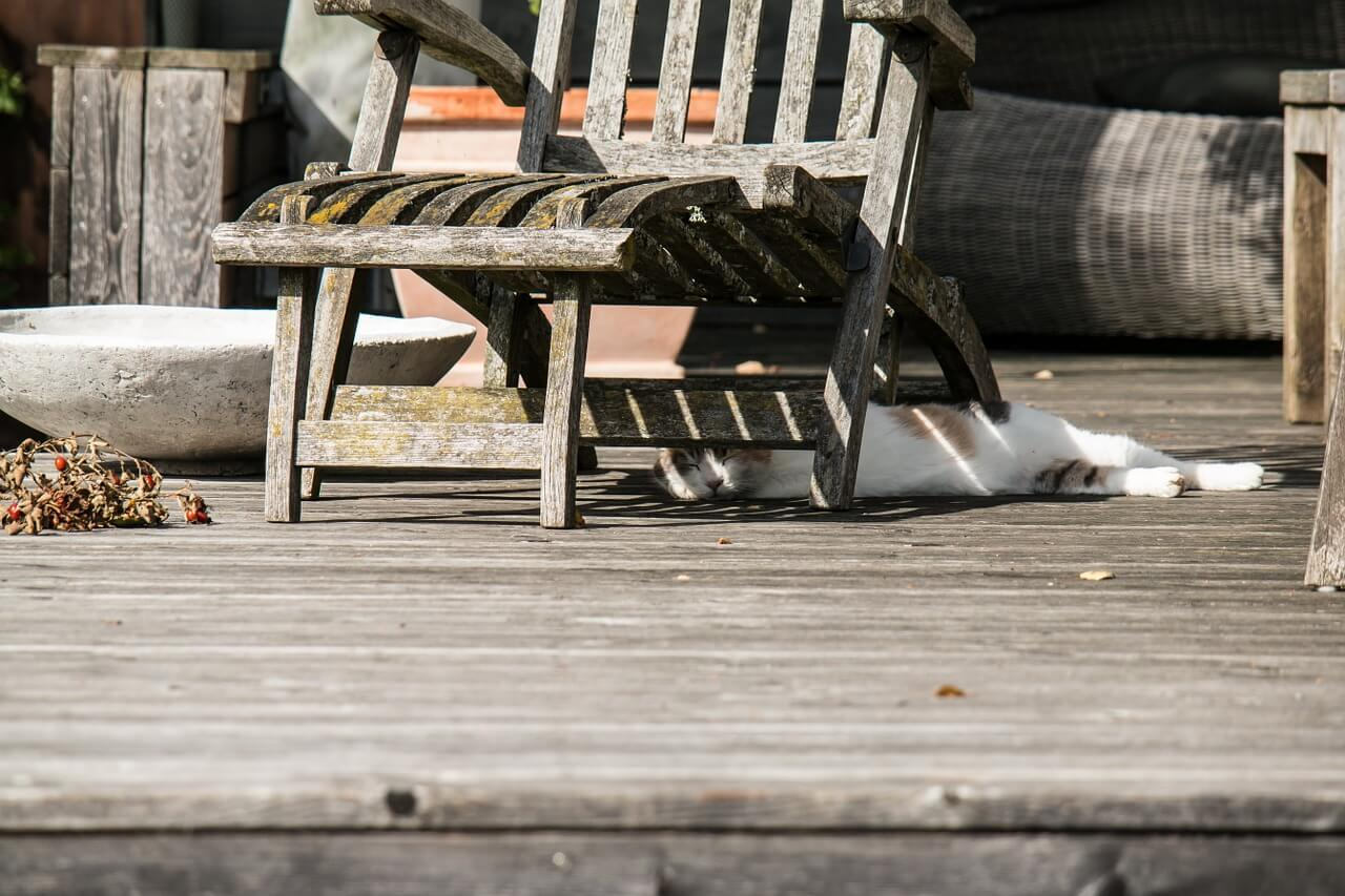 deck weathered wood